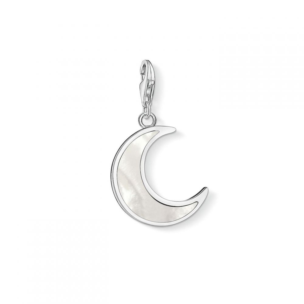 トーマスサボ Thomas Sabo レディース ジュエリー・アクセサリー チャーム【Pearl Crescent Moon Charm】White
