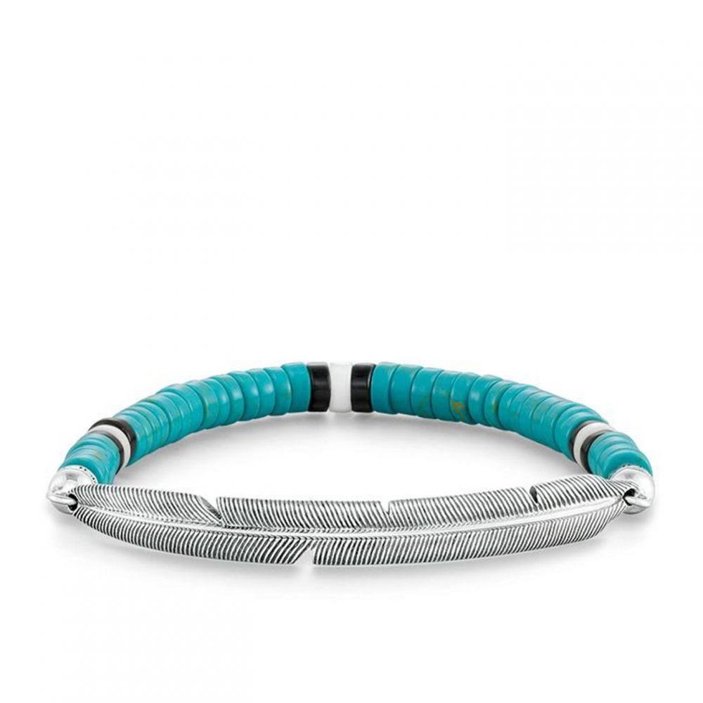 トーマスサボ Thomas Sabo レディース ブレスレット ジュエリー・アクセサリー【Ethno Feather Love Bridge Bracelet】Turquoise