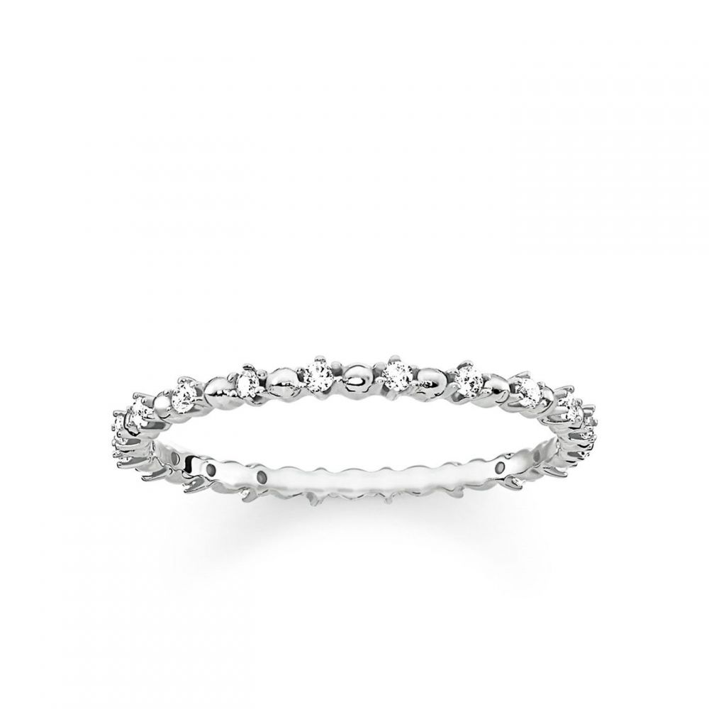 トーマスサボ Thomas Sabo レディース 指輪・リング ジュエリー・アクセサリー【Glam & Soul Claw Setting Infinity Ring】White