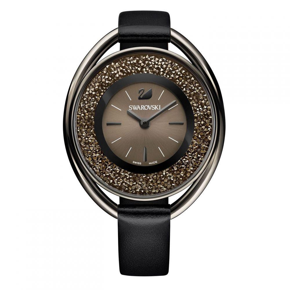 スワロフスキー Swarovski レディース 腕時計 【Crystalline oval watch】Black