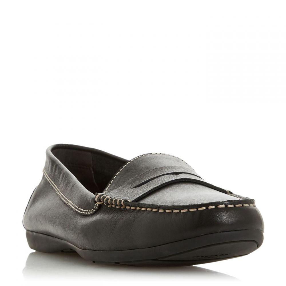 デューン Dune レディース ローファー・オックスフォード シューズ・靴【Grover Saddle Detail Loafers】Black