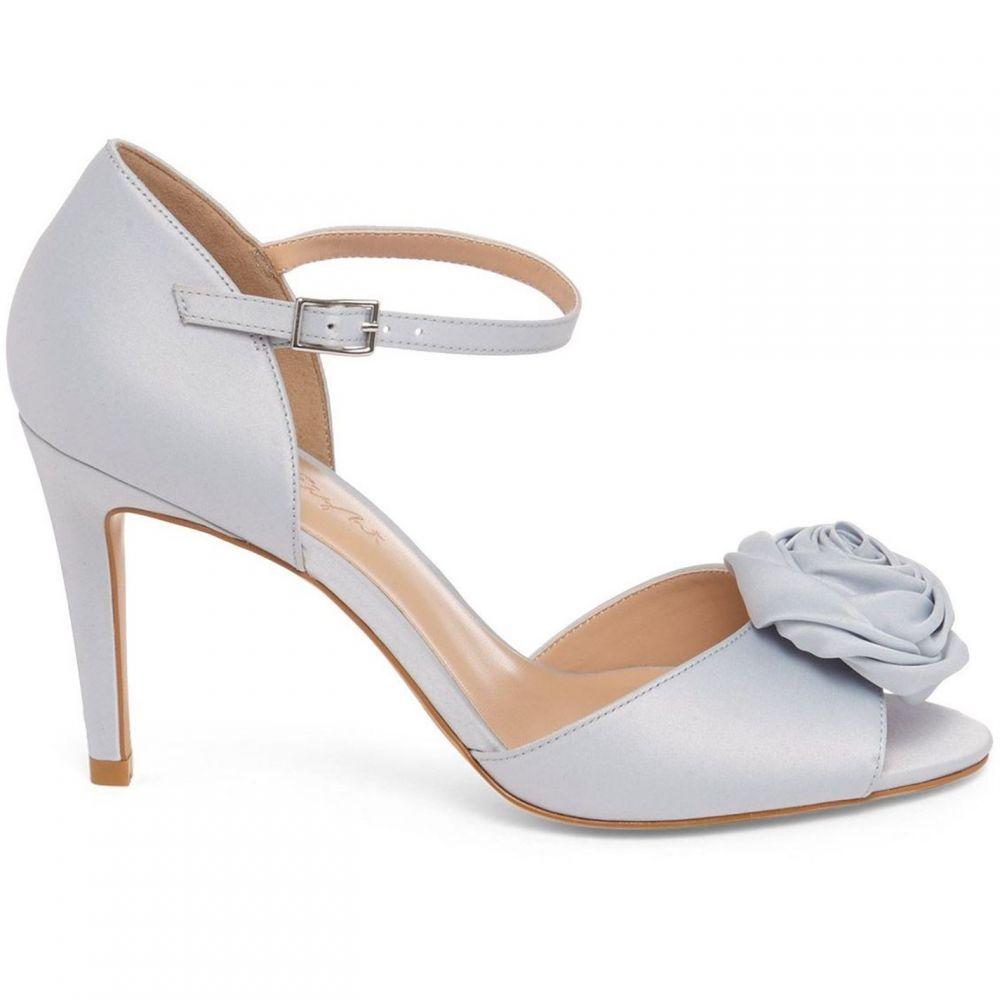 フェイズ エイト Phase Eight レディース サンダル・ミュール シューズ・靴【Louisa Satin Rose Peep Toe Sandals】Light Blue