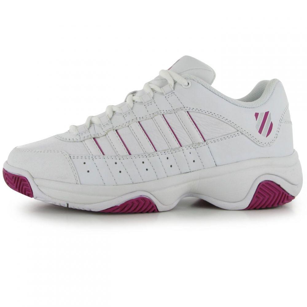 ケースイス レディース テニス シューズ・靴 【サイズ交換無料】 ケースイス K Swiss レディース テニス シューズ・靴【Court Blast Tennis Shoes】White