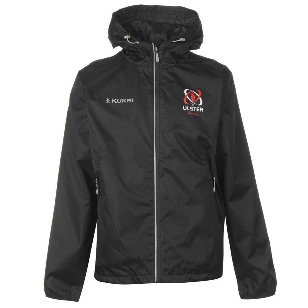 ククリ Kukri メンズ レインコート アウター【Ulster Rugby Rain Jacket】Black/Charcoal