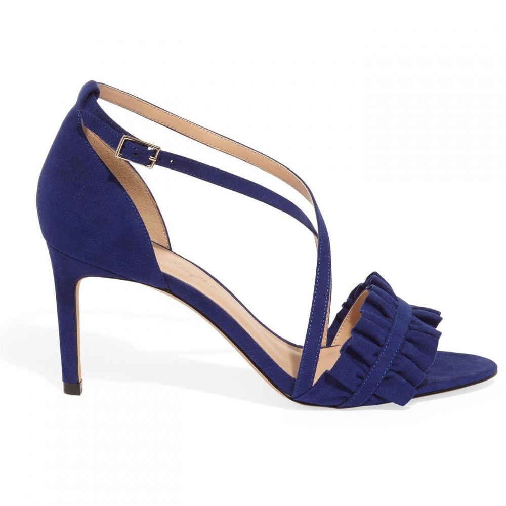 フェイズ エイト Phase Eight レディース サンダル・ミュール シューズ・靴【Romy Ruffle Front X Over Sandal】Royal Blue