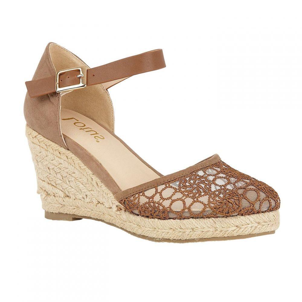 ロータス Lotus Shoes レディース エスパドリーユ ウェッジソール シューズ・靴【Eartha Espadrille Wedge Shoes】Tan