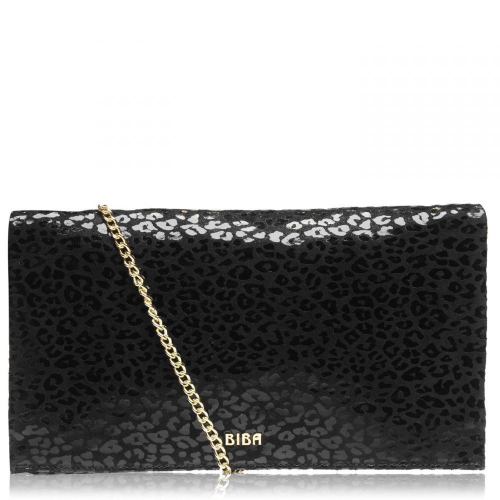 ビバ Biba レディース クラッチバッグ バッグ【Fold Over Chain Clutch Bag】Black