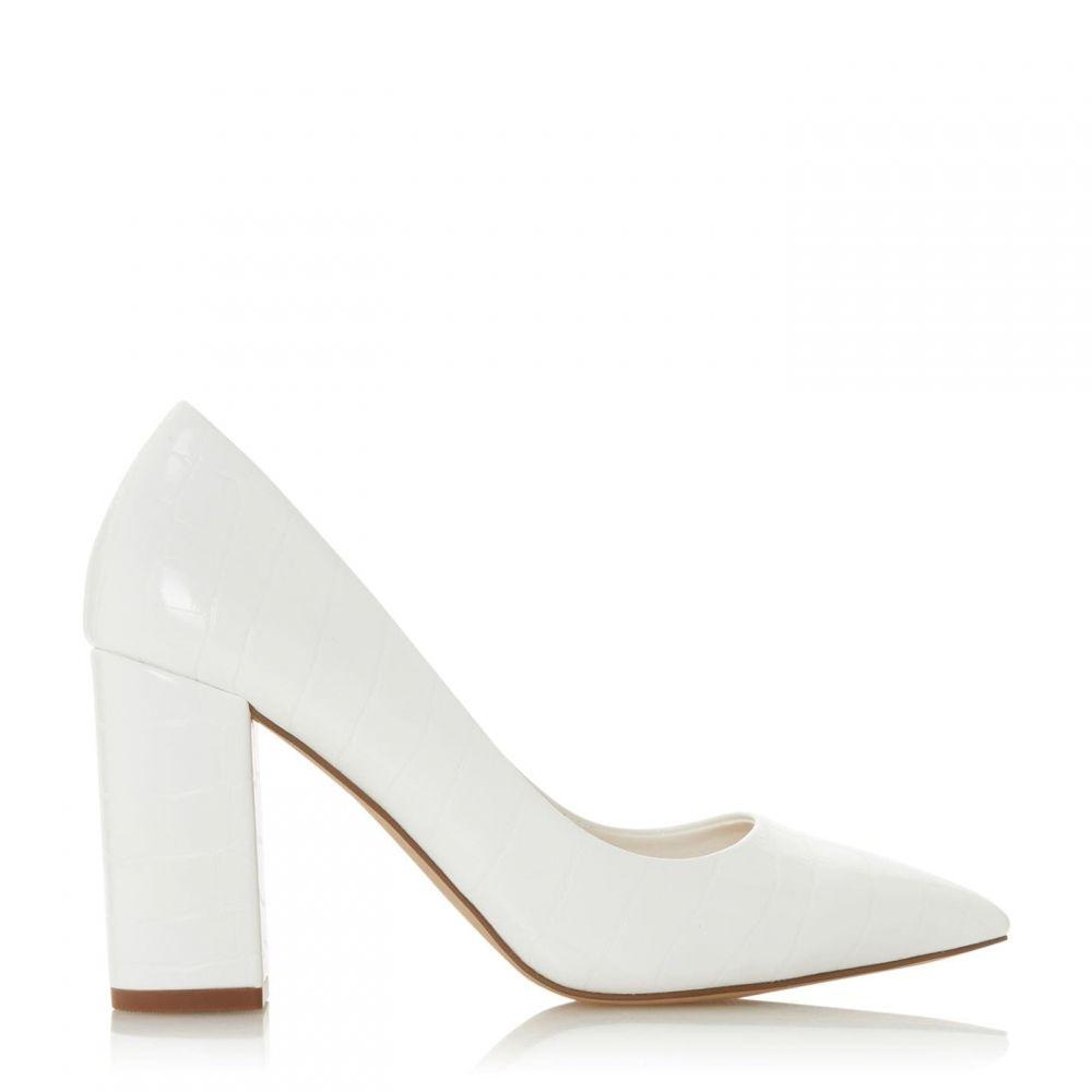 ヘッドオーバーヒールズ Head Over Heels レディース パンプス シューズ・靴【Abs Block Heel Court Shoes】White