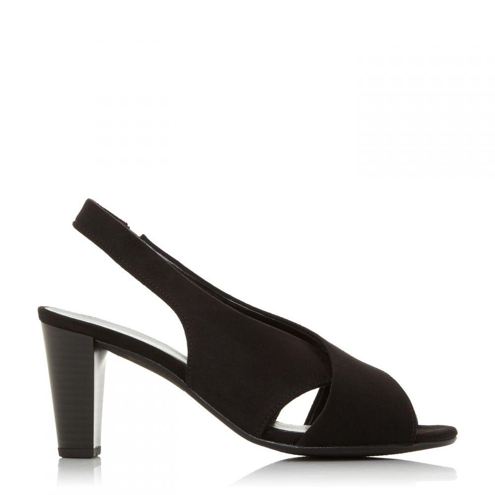 ガボール Gabor レディース パンプス オープントゥ シューズ・靴【Zeus Open Toe Slingback Court Shoes】Jet Black