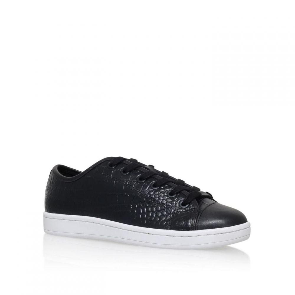 ダナ キャラン ニューヨーク DKNY レディース スニーカー レースアップ シューズ・靴【Baylee Flat Lace Up Trainers】Black