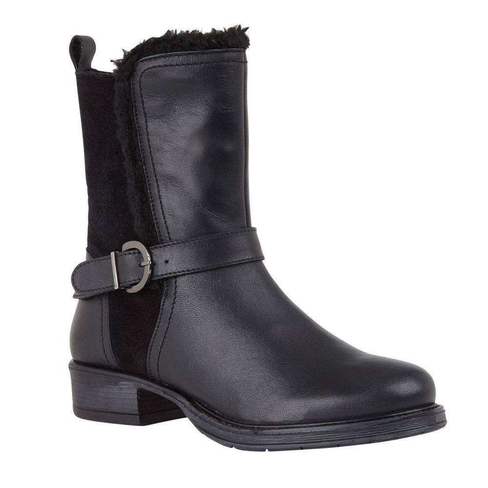 ロータス Lotus Shoes レディース ブーツ ショートブーツ シューズ・靴【Maddy Leather/Suede Ankle Boots】Black Leather