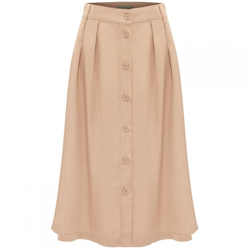 フェイズ エイト Phase Eight レディース スカート 【Bel-Marie Button Through Skirt】Stone