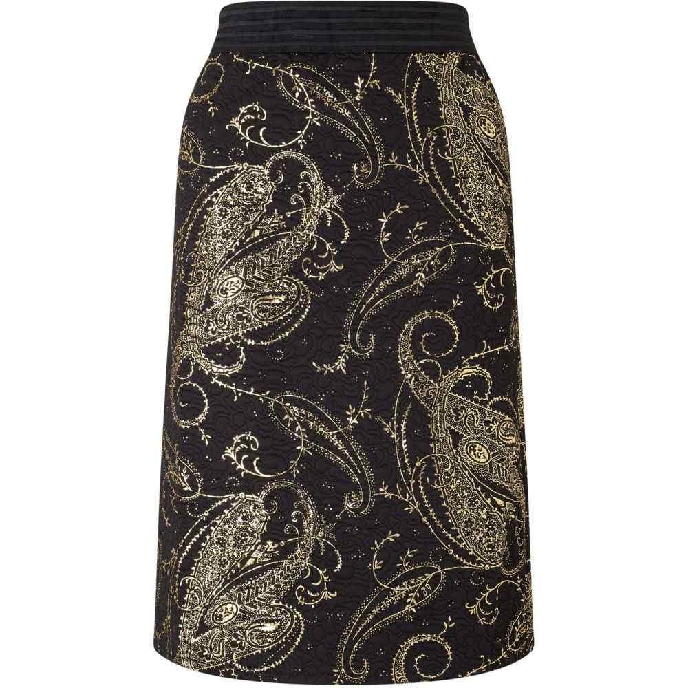 ジュームズ レイクランド James Lakeland レディース スカート 【Gold Print Skirt】Black
