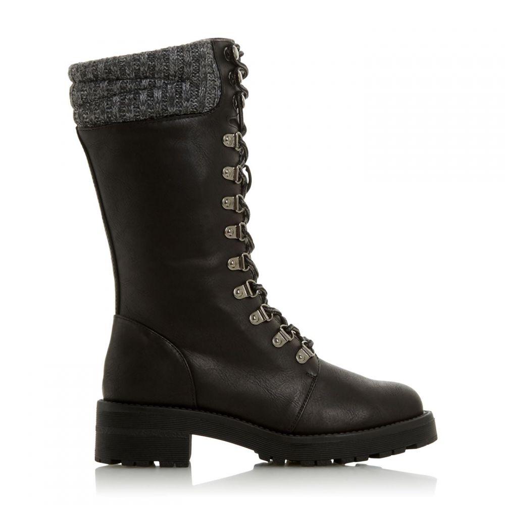 ヘッドオーバーヒールズ Head Over Heels レディース ブーツ シューズ・靴【Ryne Knitted Cuff Calf Boots】Black