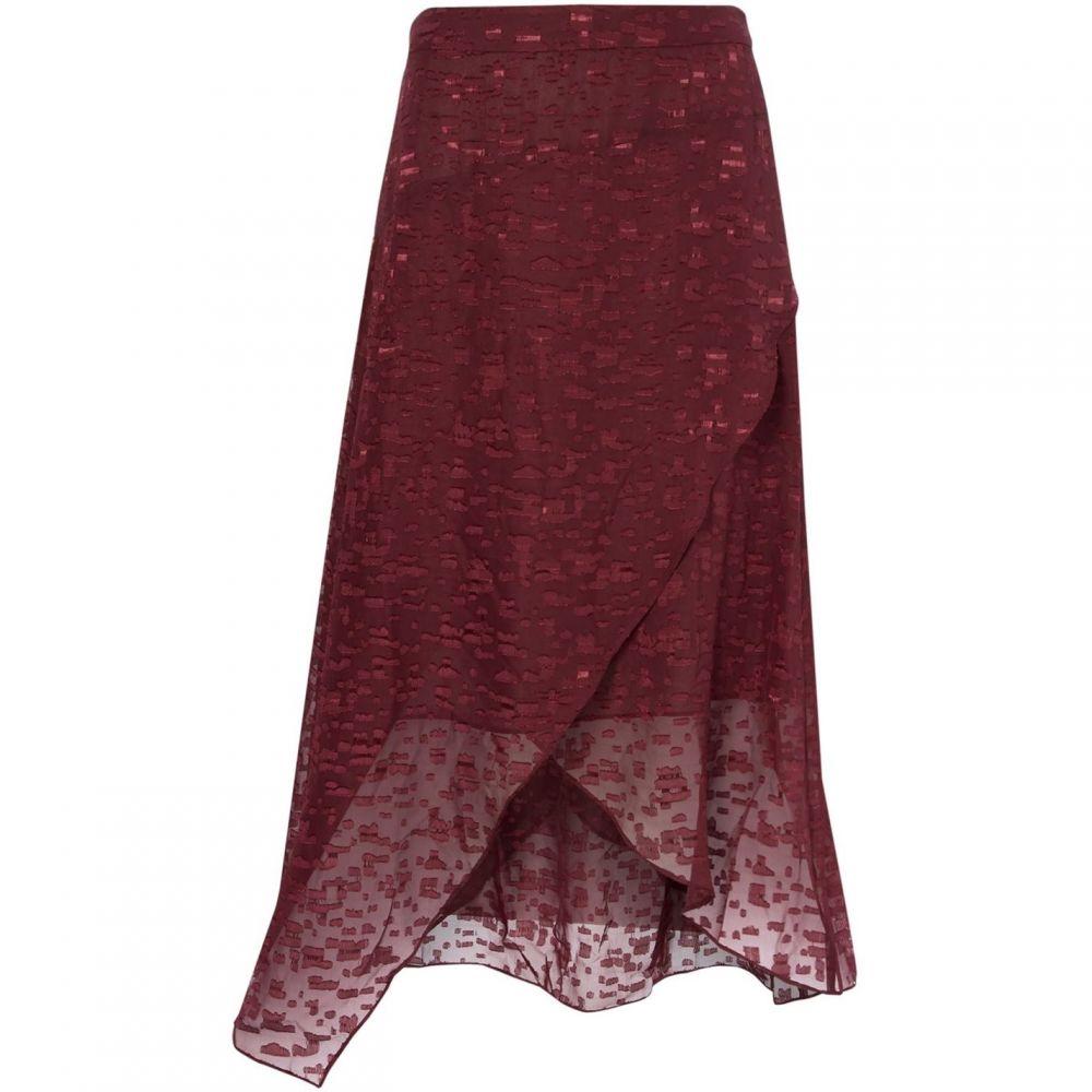 レーベルラボ Label Lab レディース スカート 【Asymetric burnout skirt】Berry