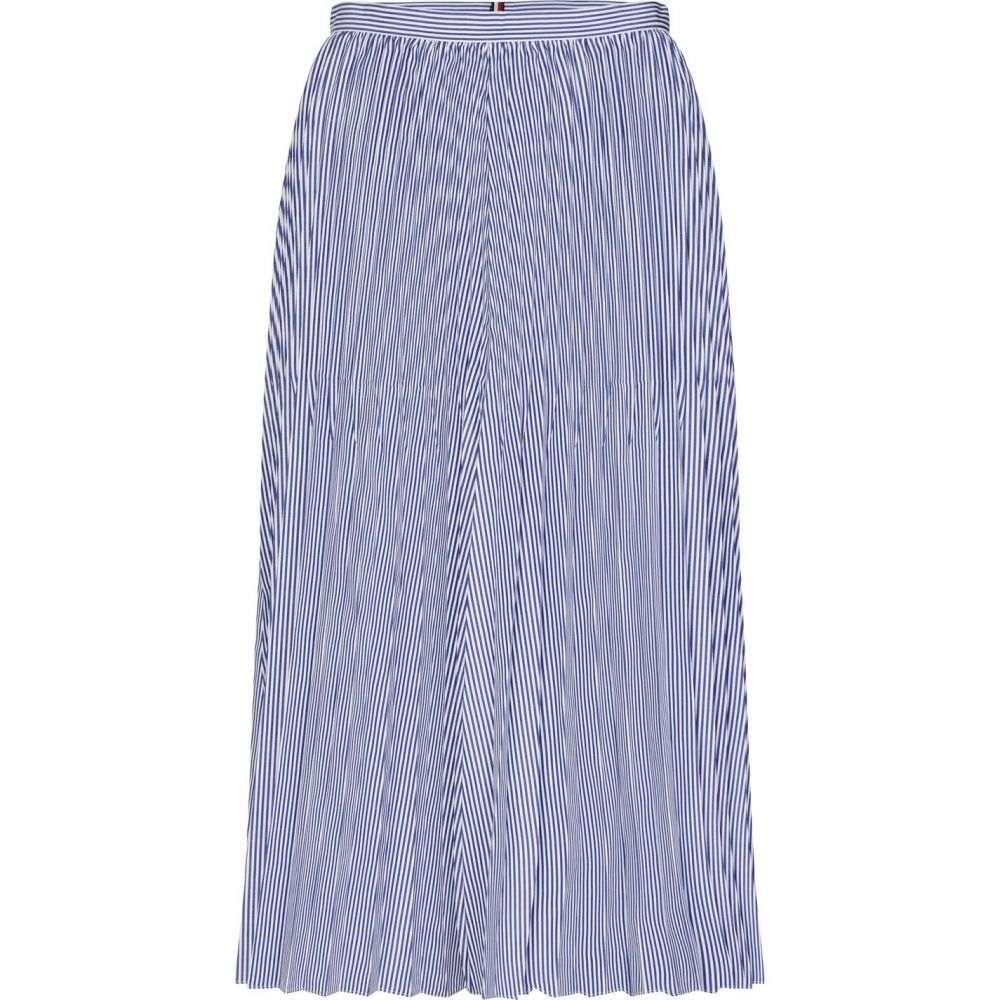 トミー ヒルフィガー Tommy Hilfiger レディース ひざ丈スカート スカート【Daisy Stripe Midi-Skirt】Cleo blue stripe