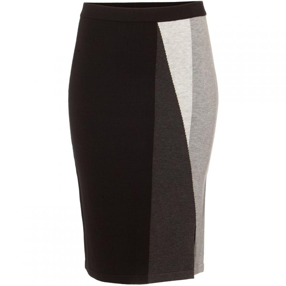 フェイズ エイト Phase Eight レディース スカート 【Megan Colour Block Knit Skirt】Black and Grey