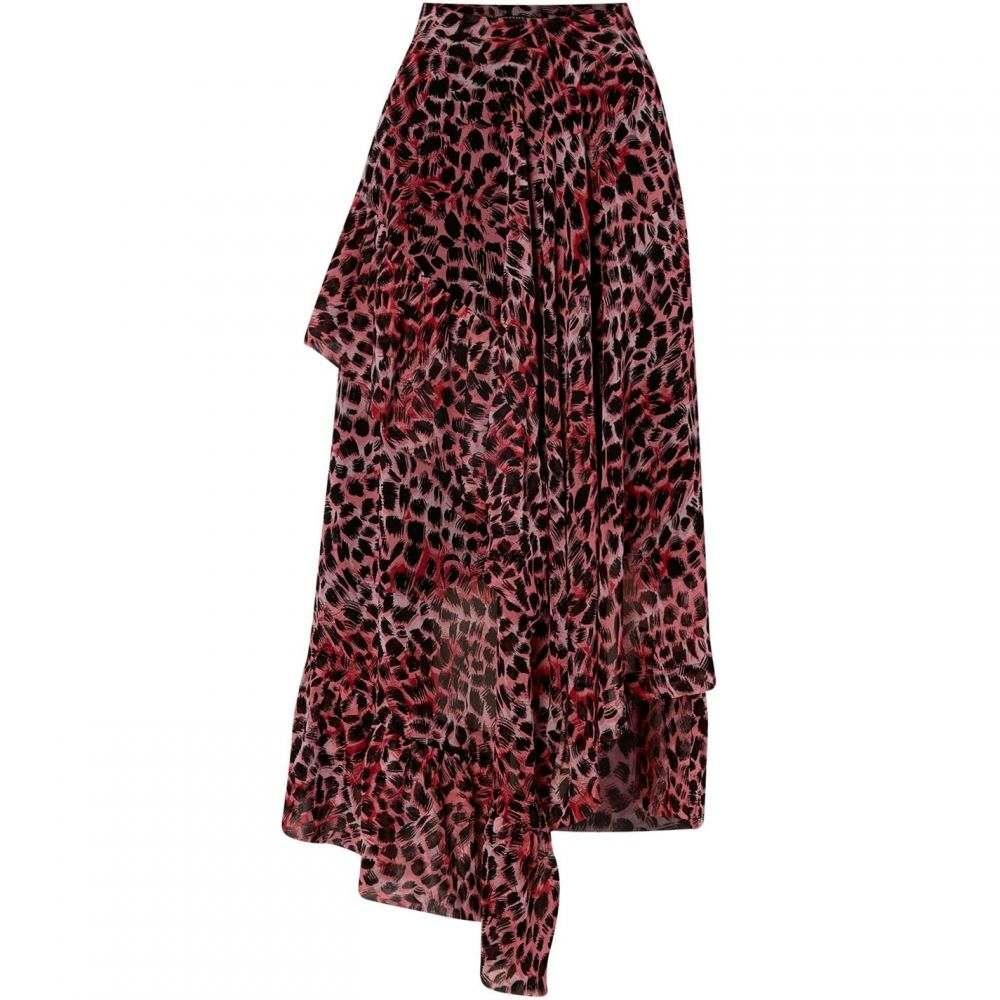 ビバ Biba レディース スカート 【Leopard Ruffle Skirt】Pink