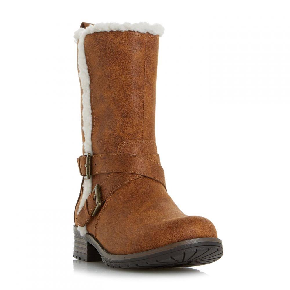 ヘッドオーバーヒールズ Head Over Heels レディース ブーツ シューズ・靴【Reecey Strappy Biker Calf Boots】Tan