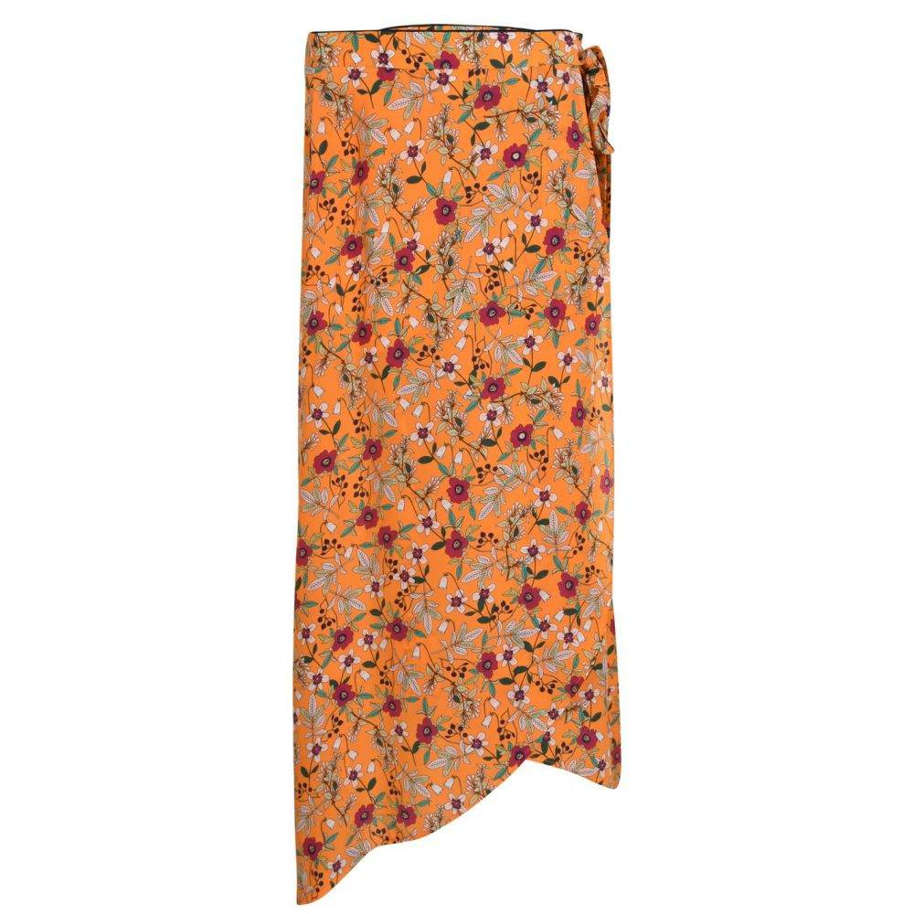 ヒューゴ ボス Hugo レディース スカート ラップスカート【Reilina Wrap Skirt】Orange Prnt