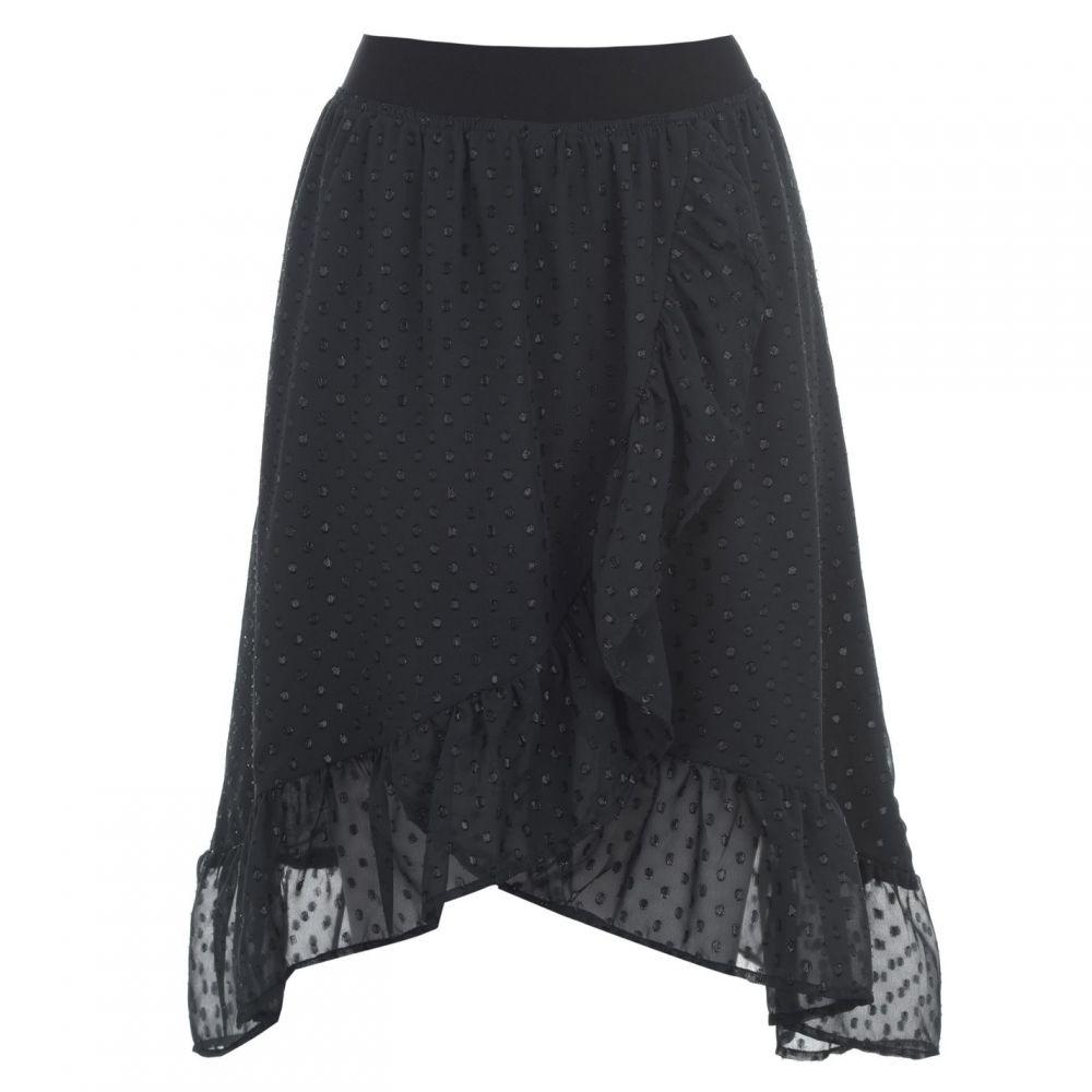 ローリーズ ランドリー Lollys Laundry レディース ひざ丈スカート スカート【Bertha Midi Skirt】WASHED BLACK