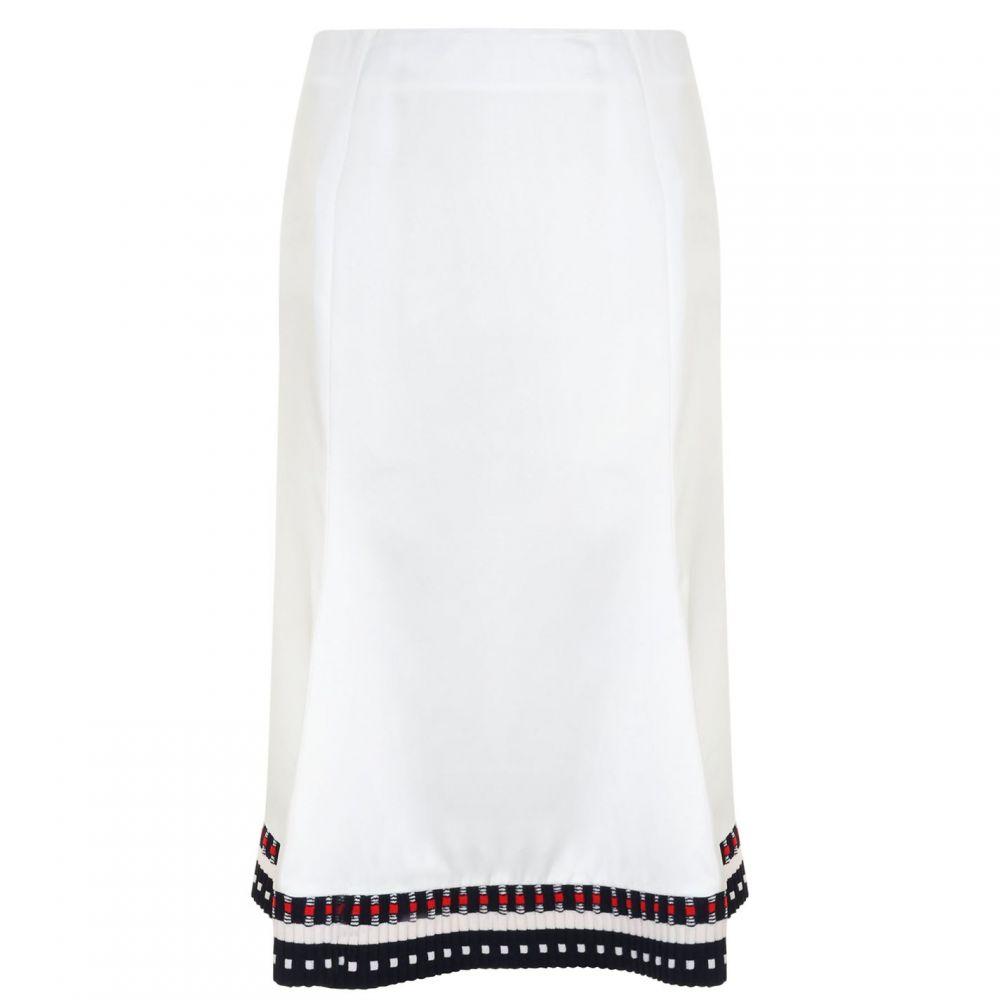 ヴィクトリア ベッカム VICTORIA BECKHAM レディース スカート 【Flare Trim Skirt】WHITE/CRIMSON-N