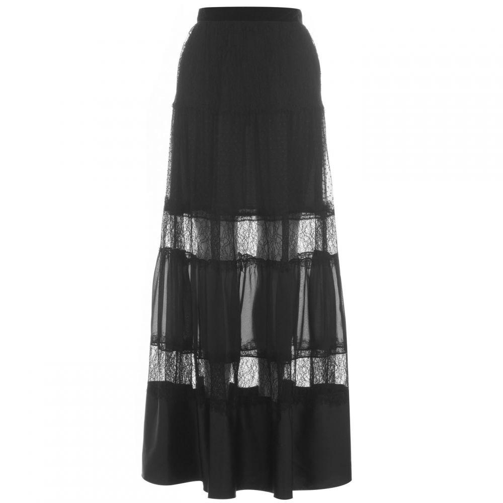 パーセヴェランス ロンドン Perseverance レディース ロング・マキシ丈スカート スカート【Lace Panel Maxi Skirt】Black