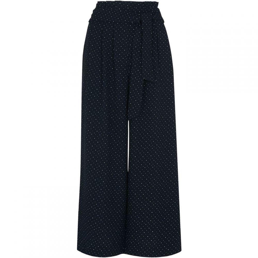 ホイッスルズ Whistles レディース ボトムス・パンツ 【Micro Spot Tie Waist Trouser】Navy Multi
