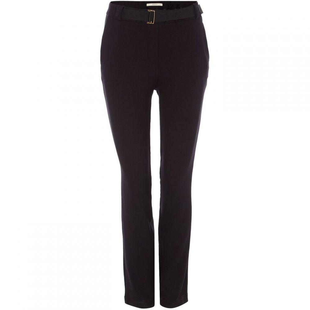 セッスン Sessun レディース スキニー・スリム ボトムス・パンツ【Slim fit trouser with belt】Black