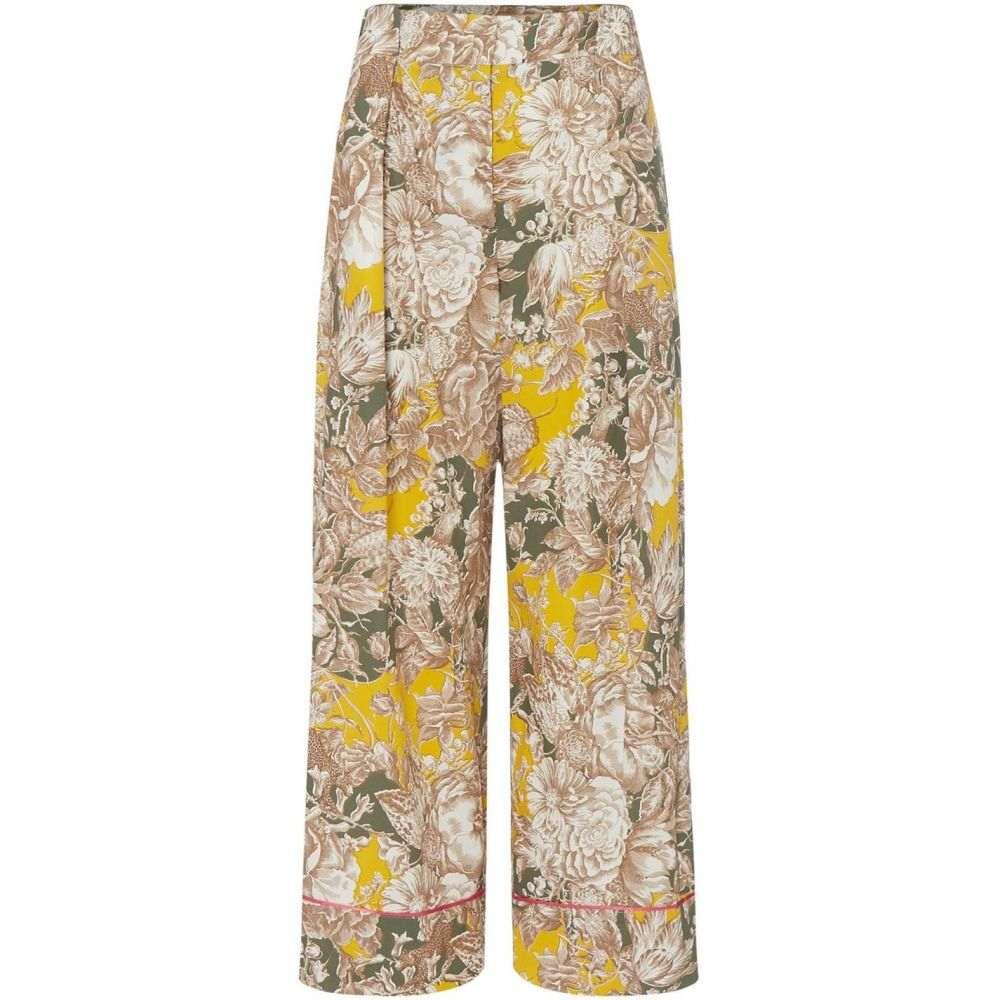 マックスマーラ Max Mara Weekend レディース ボトムス・パンツ ワイドパンツ【Axe wide leg floral trousers】Yellow