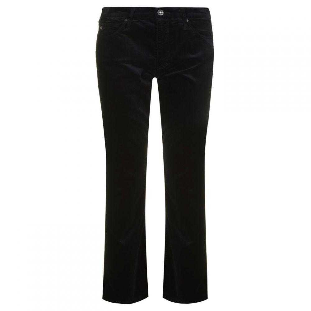 エージージーンズ AG Jeans レディース ジーンズ・デニム ボトムス・パンツ【Jodi High Rise Slim Velvet Crop Jeans】Black