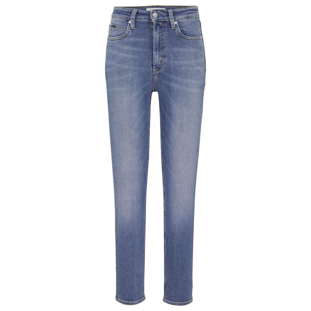 カルバンクライン Calvin Klein Jeans レディース ジーンズ・デニム ボトムス・パンツ【010 High Rise Skinny Ankle Grazer Jeans】Lanier Emb Blue
