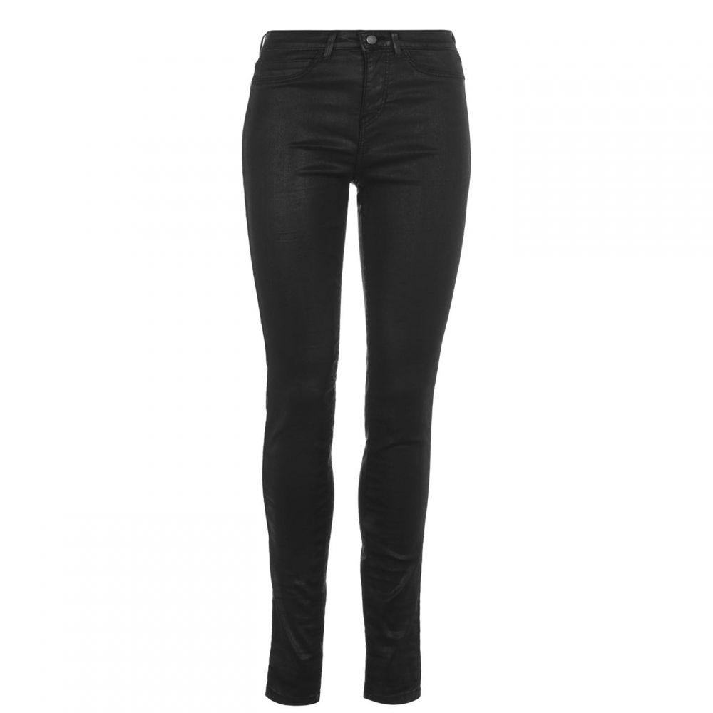 ゲス Guess レディース ジーンズ・デニム ボトムス・パンツ【1981 Coated Skinny Jeans】Coat Black