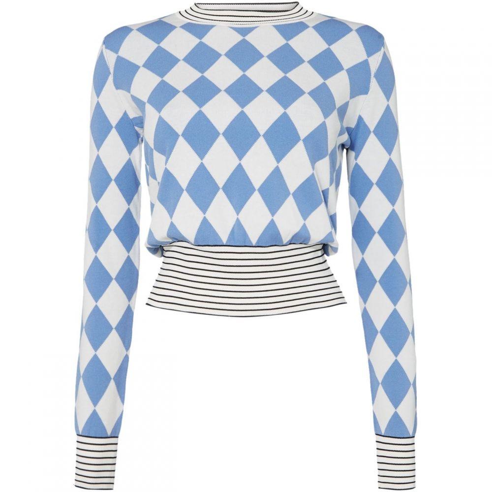 スポーツマックス Sportmax Code レディース ニット・セーター トップス【Ordine sweater with ribbed detail】Light Blue