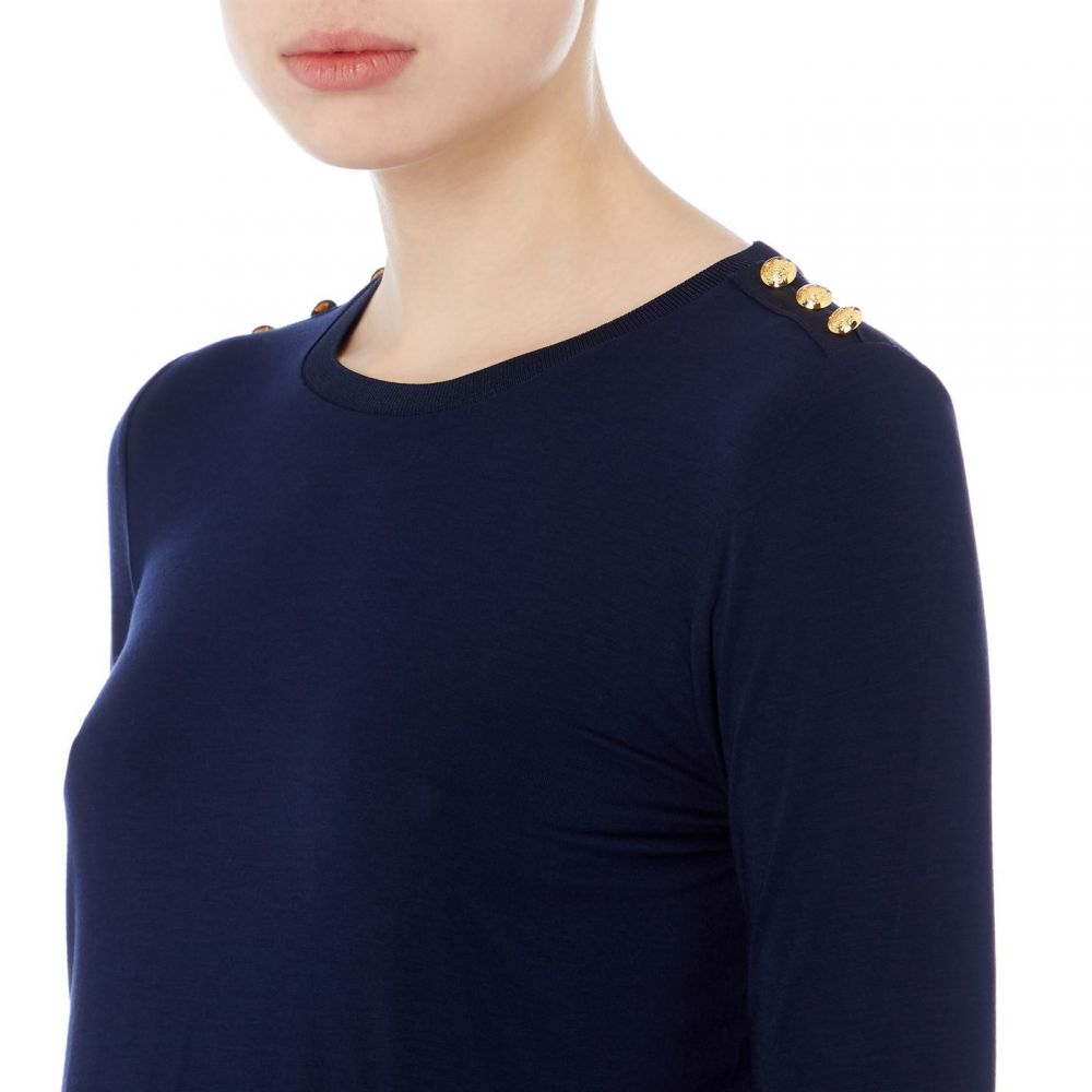 UK 8 TED BAKER Women/'s Bright  Blue Kyoto Gardens Crossover Top  Size 1