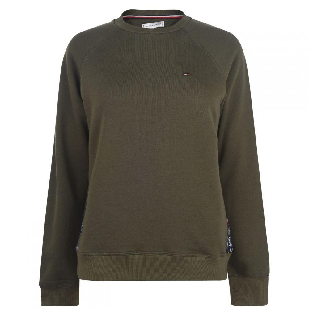 トミー ヒルフィガー Tommy Bodywear レディース スウェット・トレーナー トップス【Authentic Crew Sweatshirt】Olive Night