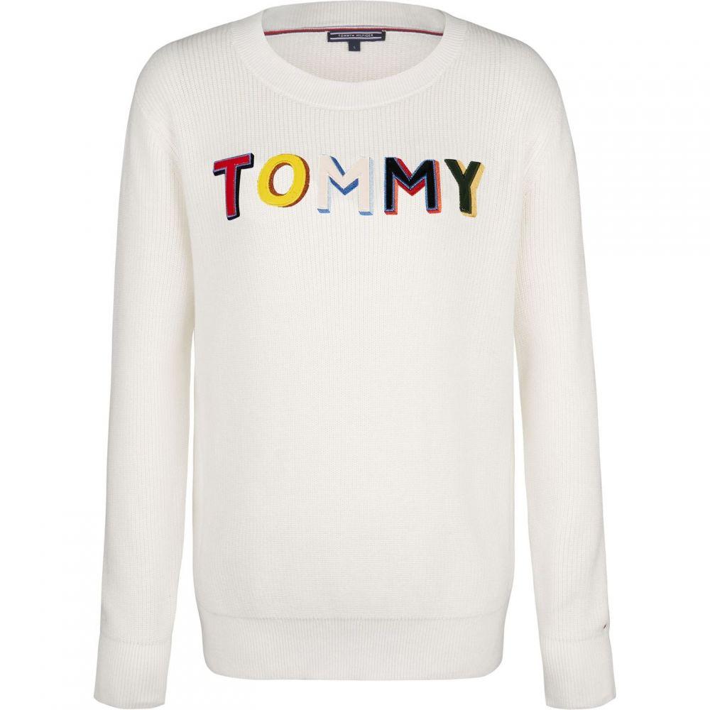 トミー ヒルフィガー Tommy Hilfiger レディース ニット・セーター トップス【Tasha Graphic Sweater】White