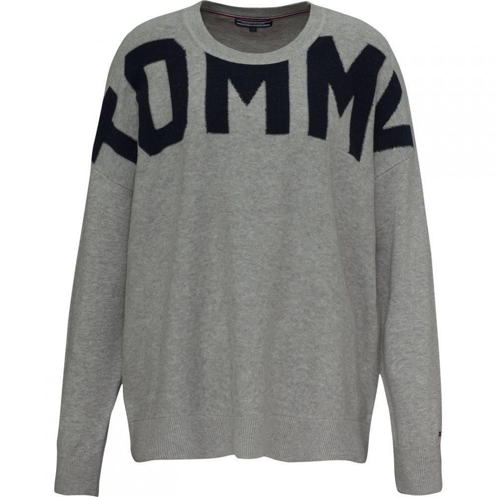 トミー ヒルフィガー Tommy Hilfiger レディース ニット・セーター トップス【Vivie Crew-Neck Sweater】Mid Grey