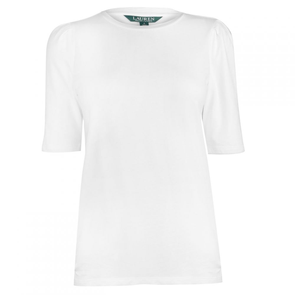 ラルフ ローレン Lauren by Ralph Lauren レディース Tシャツ トップス【Lauren Livienne Knit T Shirt】White