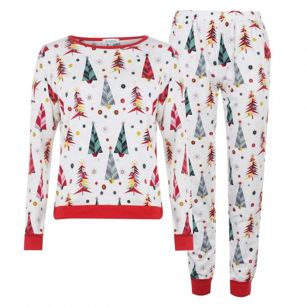 ベッドヘッド Bedhead レディース パジャマ・上下セット インナー・下着【Christmas Jumper Pyjama Set】Christmas Tree