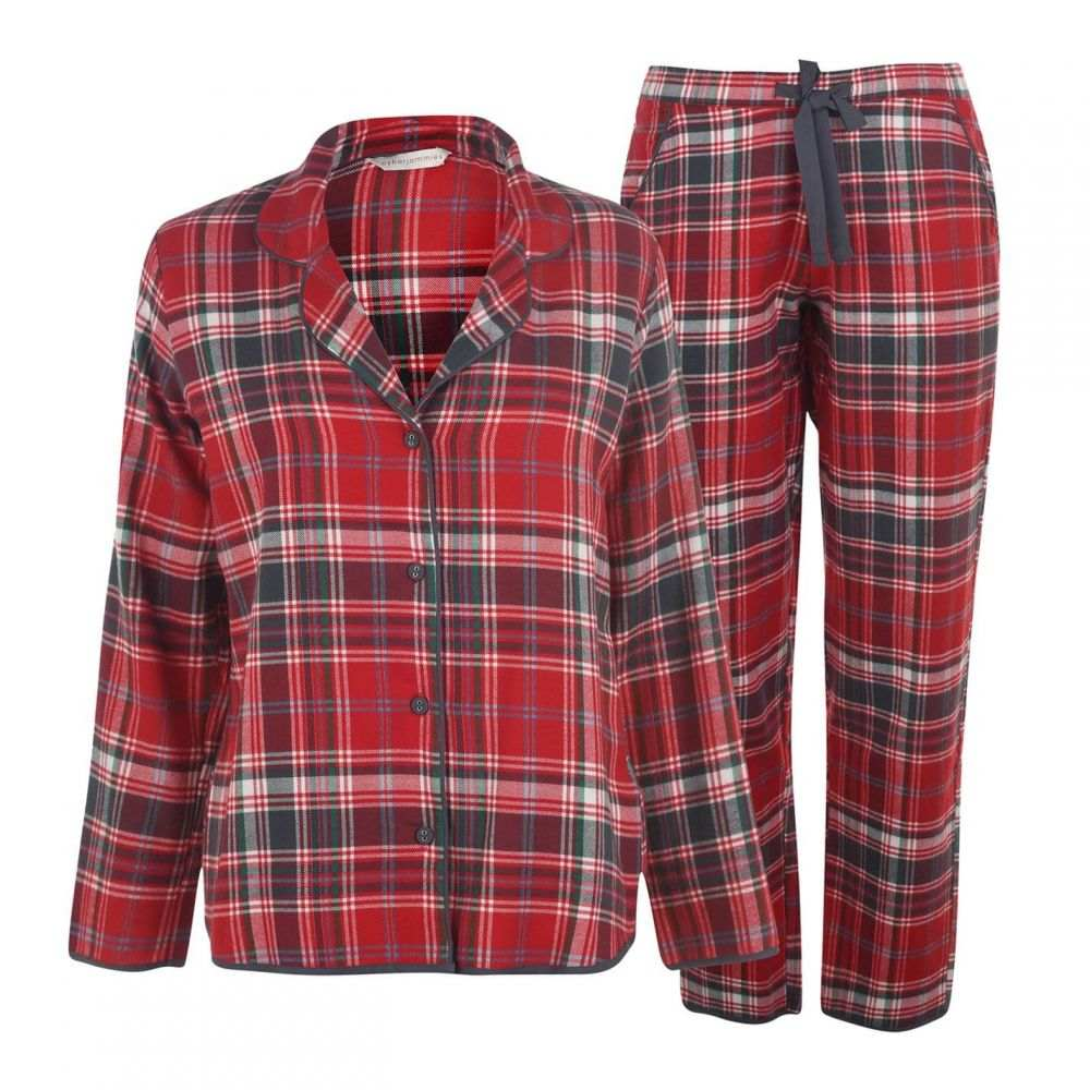 サイバーキュティーズ Cyberjammies レディース パジャマ・上下セット インナー・下着【Red Check Pyjama Set】Red