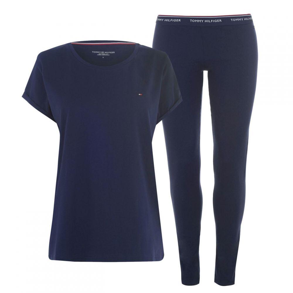 トミー ヒルフィガー Tommy Bodywear レディース パジャマ・上下セット インナー・下着【Short Sleeve Pyjama Set】Peacoat
