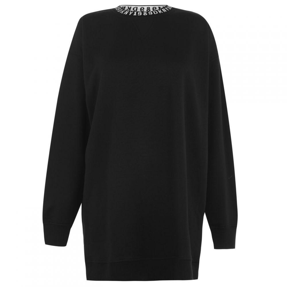 ダナ キャラン ニューヨーク DKNY レディース チュニック トップス【Downtown Long Sleeve Tunic】BLACK