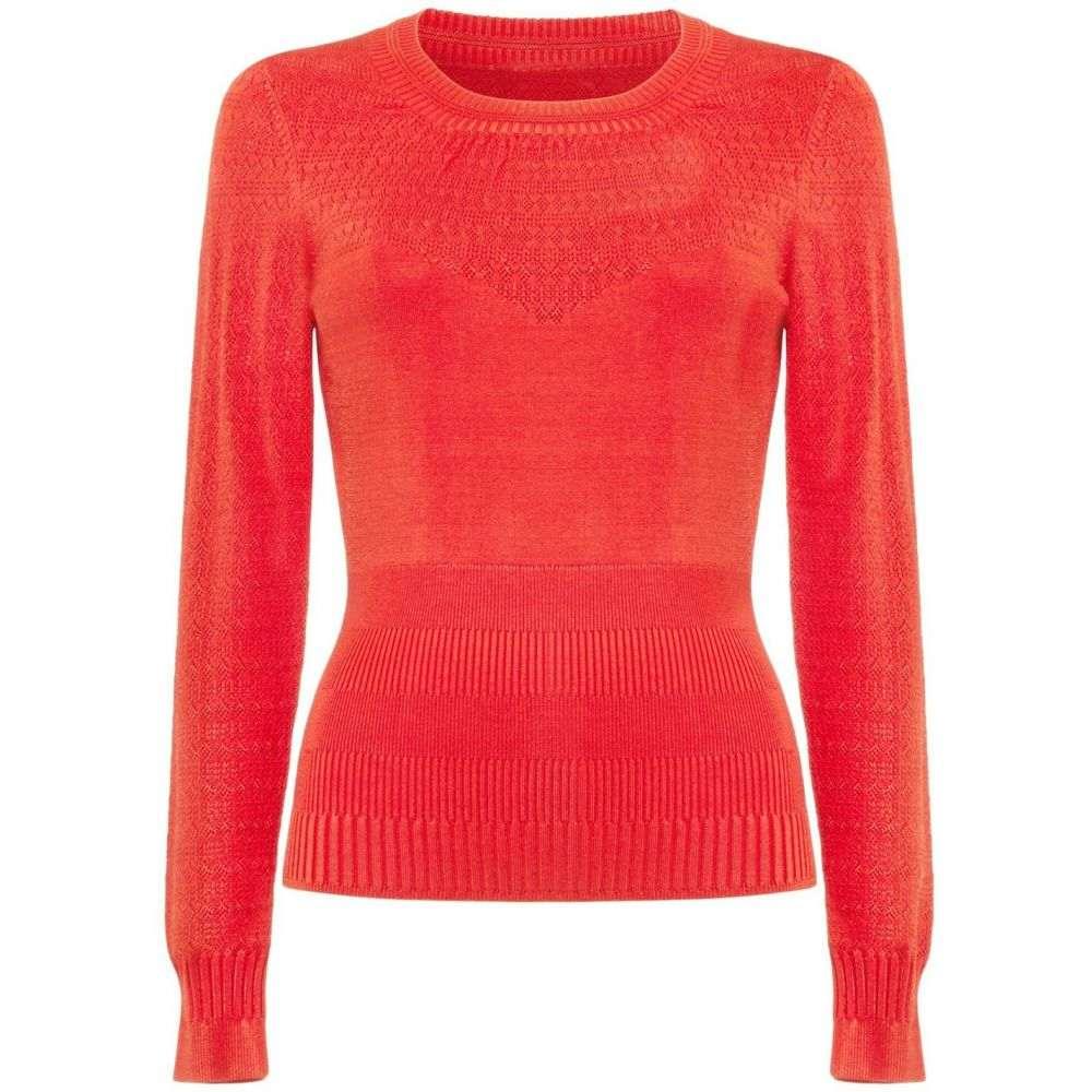 ダンセル Damsel in a Dress レディース ニット・セーター トップス【Marina Multi Stitch Knitted Jumper】Red