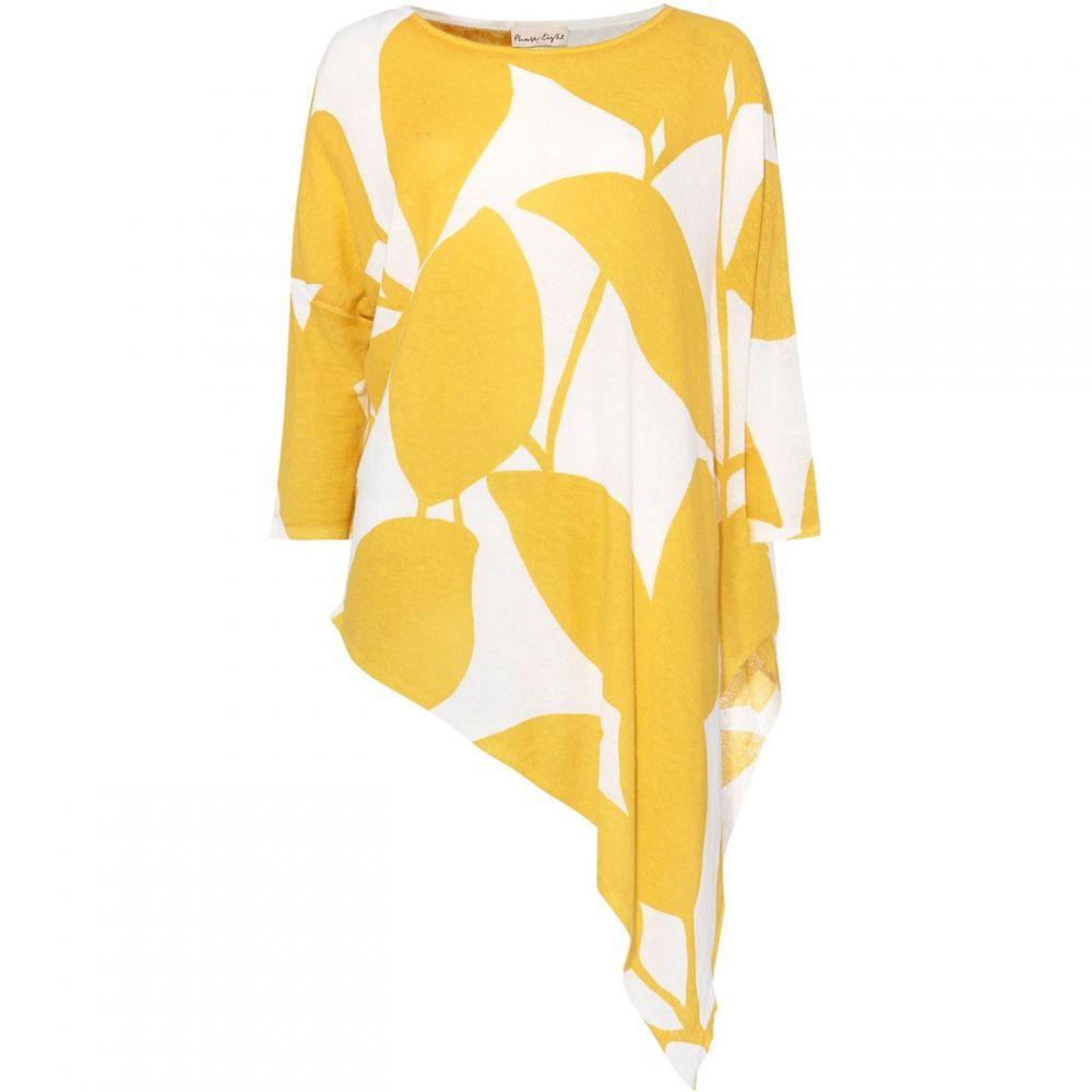 フェイズ エイト Phase Eight レディース ニット・セーター トップス【Lamona Leaf Print Linen Mix Knit】Yellow