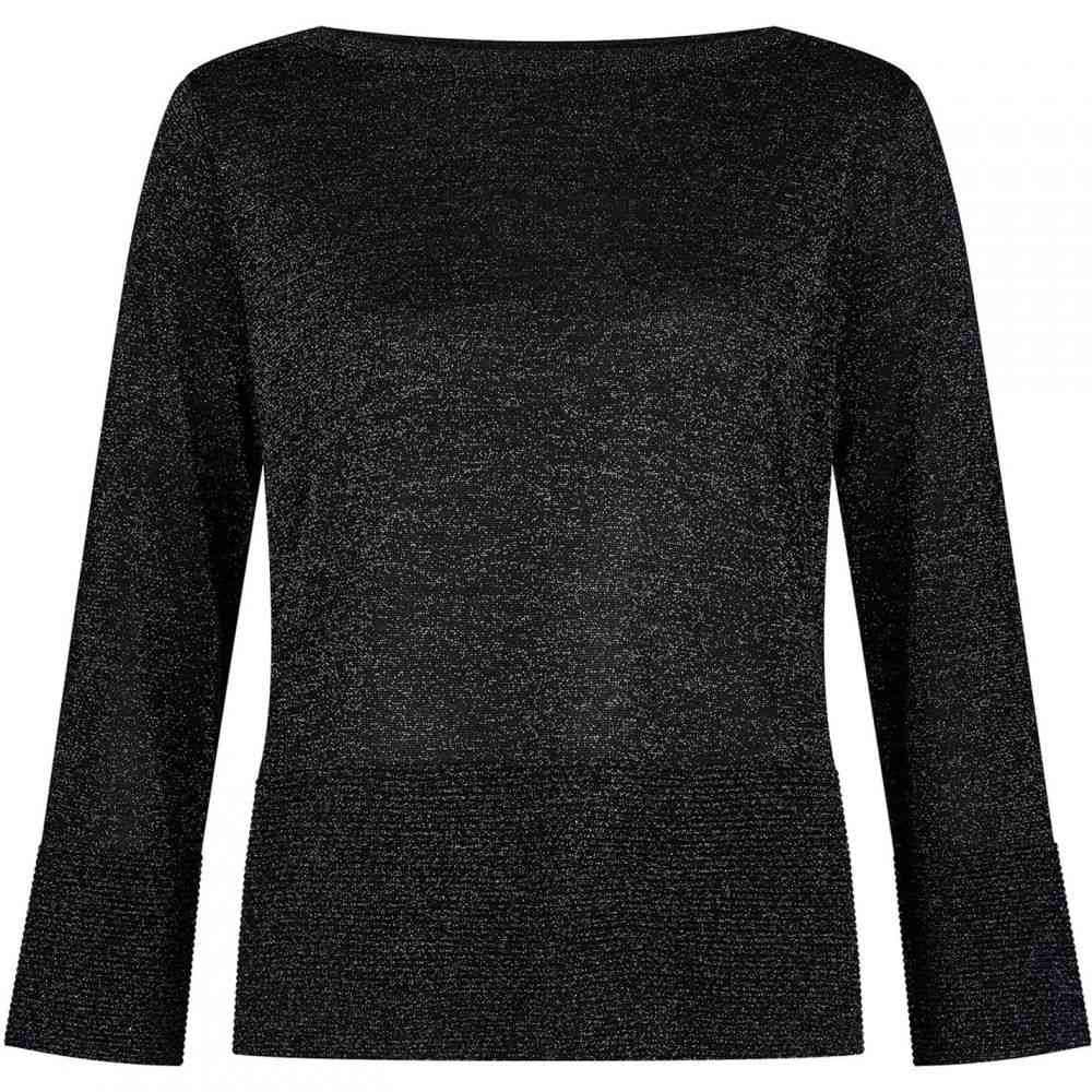 ホッブス Hobbs レディース ニット・セーター トップス【Logan Sparkle Sweater】Black Silver