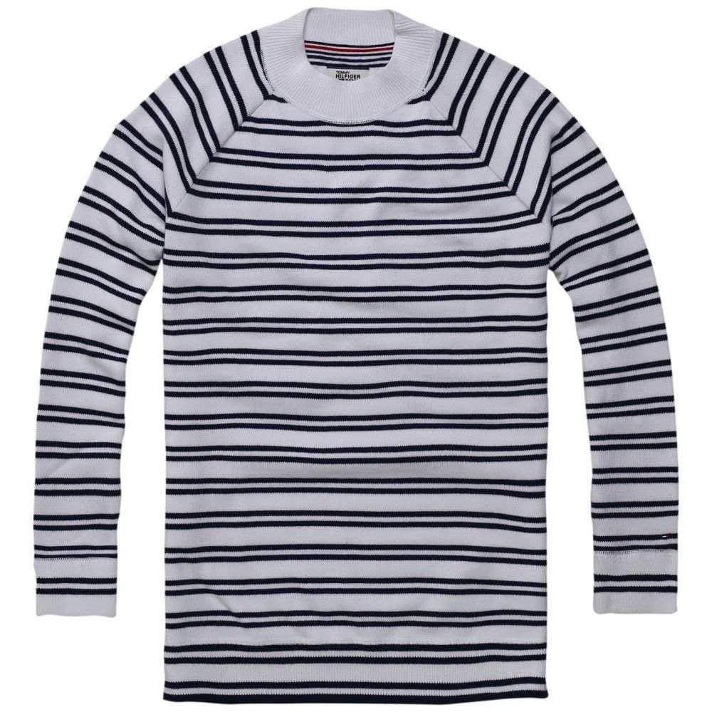 トミー ジーンズ Tommy Jeans レディース チュニック トップス【Stripe Tunic】White
