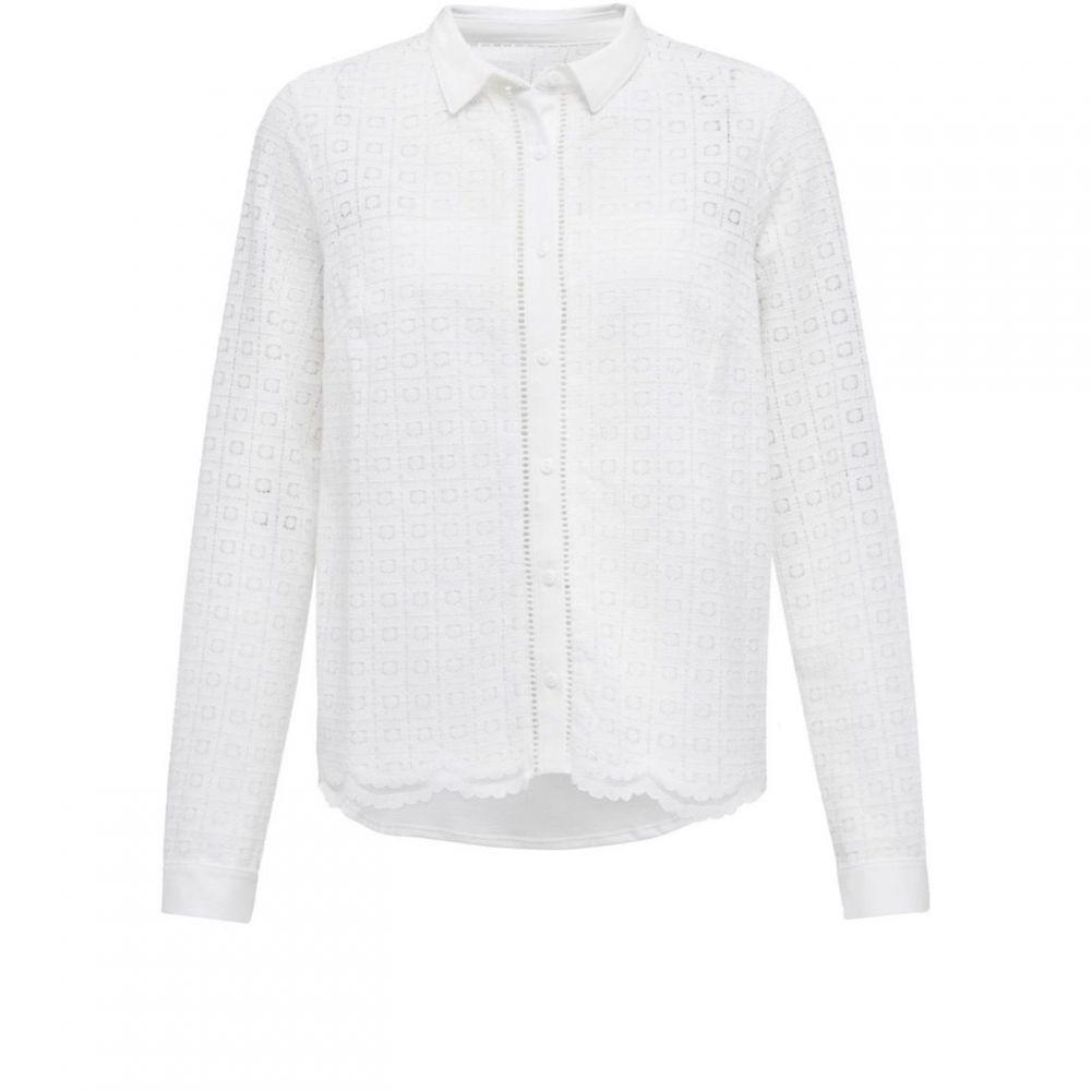グレート プレインス Great Plains レディース ブラウス・シャツ トップス【Lily Lace Mix Shirt】White
