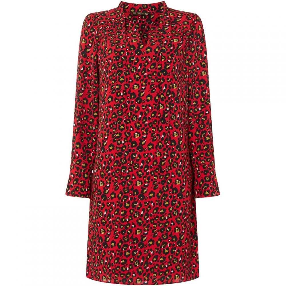 ビバ Biba レディース ワンピース ワンピース・ドレス【Leopard Print Pussybow dress】Red
