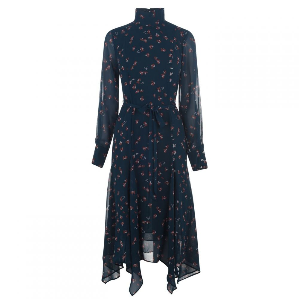 ダナ キャラン ニューヨーク DKNY レディース ワンピース シャツワンピース ワンピース・ドレス【Floral Shirt Dress】CYAN WINTER